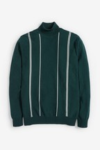 Fine Stripe Roll Neck Jumper