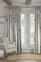 Chinoiserie Bird Trail Natural Made To Measure Curtains