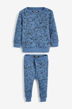 Monkey All Over Print Crew And Joggers Set (3mths-7yrs)