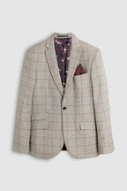 Signature British Fabric Check Slim Fit Moons Blazer