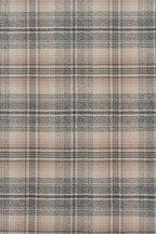 Nevis Woven Check Eyelet Curtains Fabric Sample
