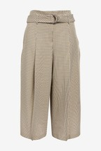 Check Belted Culottes