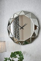 Facet Mirror Wall Clock