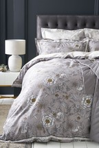 Cotton Sateen Heritage Floral Duvet Cover And Pillowcase Set