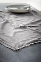 Set of 2 Frayed Placemats