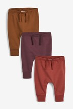 3 Pack Slim Leg Joggers (0mths-2yrs)