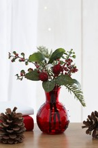 Artificial Winter Berry In Perfume Bottle