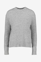 Whistles Grey Ribbed Neck Knit Jumper