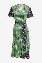 Mix/Caroline Issa Print Wrap Dress