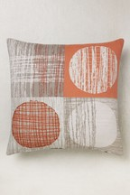 Embroidered Circles Cushion