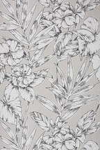 Paste The Wall Outline Floral Wallpaper Sample