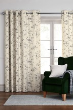 Vintage Floral Eyelet Curtains