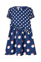 Monsoon Children Navy Kenzie Spot Dress