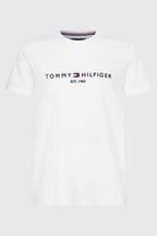 tommy hilfiger white t shirt logo