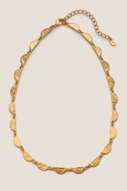 Boden Gold Tone Scallop Necklace