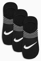 Nike Adults Black Lightweight Training Socks 3 Pack