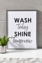 Wash Shine Framed Print