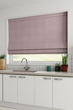 Made To Measure Mauve Cotton Roman Blind