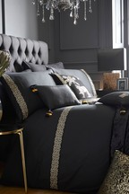 Laurence Llewelyn-Bowen Exclusive To Next Embroidered Monoglam Duvet Cover and Pillowcase Set