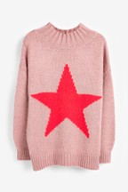 Stitchy Funnel Neck Jumper