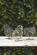 Set of 3 Solar Wire Chicks