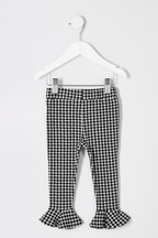 River Island Mono Dogtooth Frill Trousers