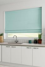 Cotton Duck Egg Blue Made To Measure Roman Blind