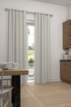Country Geo Jacquard Made To Measure Curtains