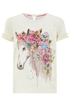 Monsoon Children Cream Anoushka Horse T-Shirt