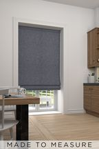 Bouclé Grey Yellow Made To Measure Roman Blind