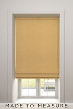 Bouclé Yellow Made To Measure Roman Blind