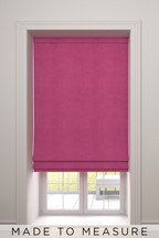 Soft Velour Made To Measure Roman Blind