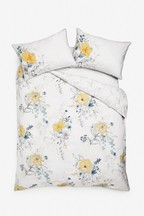 Watercolour Floral TENCEL™ Blend Duvet Cover And Pillowcase Set