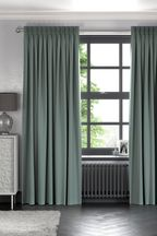 Cotton Duck Egg Blue Made To Measure Curtains
