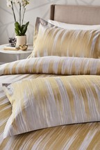 Set of 2 Harlequin Motion Gold Ikat Cotton Pillowcases