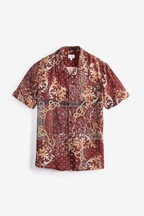 Ornate Print Short Sleeve Shirt