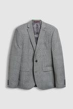 Slim Fit Check Wool Blend Suit: Jacket