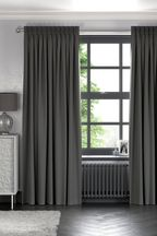 Cotton Charcoal Made to Measure Curtains