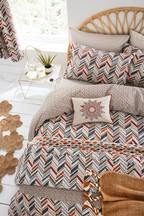 Helena Springfield Abu Chevron Geo Duvet Cover and Pillowcase Set