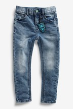 Distressed Jersey Denim Five Pocket Jeans (3-16yrs)