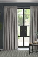 Cotton Silver Made To Measure Curtains
