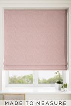 Bouclé Blush Pink Made To Measure Roman Blind