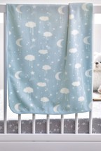 Moons & Clouds Fleece Blanket