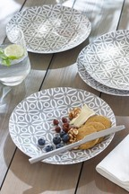 Set of 4 Geo Print Melamine Salad Plates