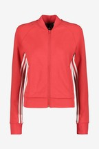 adidas Red Must Have 3 Stripe Full Zip Jacket