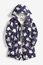 Shower Resistant Print Long Cagoule (3-16yrs)