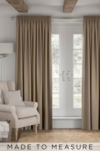 Cotton Mink Natural Made To Measure Curtains