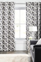 Optical Geo Jacquard Curtains