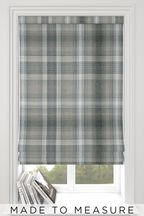 Made To Measure Grey Cosy Check Roman Blind