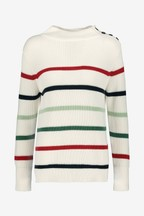 Barbour® Ice White Striped Shorewood Jumper
